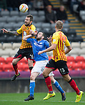 Partick Thistle v St Johnstone....25.10.14   SPFL<br /> James McFadden loses out to Jordan McMillan<br /> Picture by Graeme Hart.<br /> Copyright Perthshire Picture Agency<br /> Tel: 01738 623350  Mobile: 07990 594431