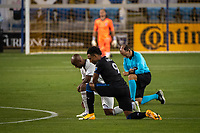 SAN JOSE, CA - SEPTEMBER 05: Danny Hoesen #9 kneels during a game between Colorado Rapids and San Jose Earthquakes at Earthquakes Stadium on September 05, 2020 in San Jose, California.