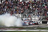 2017 NASCAR XFINITY Series - Rinnai 250<br /> Atlanta Motor Speedway, Hampton, GA USA<br /> Saturday 4 March 2017<br /> Kyle Busch, NOS Energy Drink Toyota Camry celebrates<br /> World Copyright: Barry Cantrell/LAT Images<br /> ref: Digital Image 17ATLbc2448