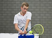Rotterdam, Netherlands, Januari 24, 2016,  ABNAMROWTT Supermatch, Keven  Benning (NED)<br /> Photo: Tennisimages/Henk Koster