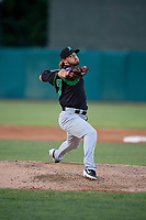Dayton Dragons pitcher Connor Curlis (23) during a Midwest League game against the Kane County Cougars on July 20, 2019 at Northwestern Medicine Field in Geneva, Illinois.  Dayton defeated Kane County 1-0.  (Mike Janes/Four Seam Images)