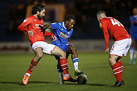 Callum Harriott of Colchester United and Michael Doughty of Swindon Town during Colchester United vs Swindon Town, Sky Bet EFL League 2 Football at the JobServe Community Stadium on 28th January 2020