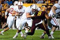 TEMPE, AZ - November 13, 2010: Tyler Gaffney during a football game at Arizona State University in Tempe, Arizona. Stanford won 17-13.