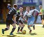 Barrie McKay takes on Marcus Fraser and Chris Burke