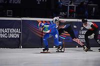 SPEEDSKATING: DORDRECHT: 06-03-2021, ISU World Short Track Speedskating Championships, RF 500m Men, Yuri Confortola (ITA), Martin Kolenc (CRO), ©photo Martin de Jong