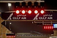 27th March 2021; Sakhir, Bahrain; F1 Grand Prix of Bahrain, Qualifying sessions;  Track lights during Formula 1 Gulf Air Bahrain Grand Prix 2021 qualifying