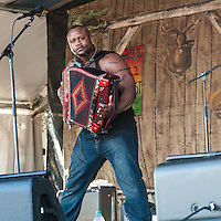 Dwayne Dopsie and the Zydeco Hellraisers at Jazz Fest 2016 in New Orleans, LA.