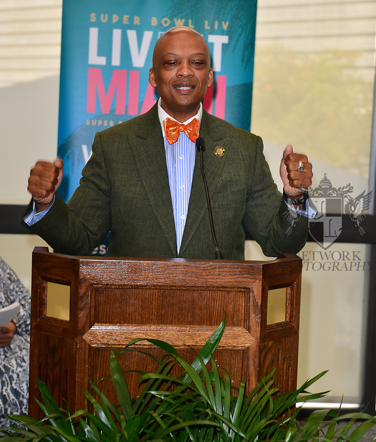 MIAMI, FLORIDA - JANUARY 29: City of Miami Gardens Mayor Oliver Gilbert attends the 21st Annual Super Bowl Gospel Celebration Press Conference at James L Knight Center on January 29, 2020 in Miami, Florida.  ( Photo by Johnny Louis / jlnphotography.com )