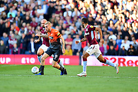 Oli McBurnie of Swansea City in action during the Sky Bet Championship match between Aston Villa and Swansea City at Villa Park in Birmingham, England, UK.  Saturday 20 October  2018