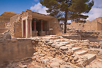 Old ruined walls of Knossos Palace