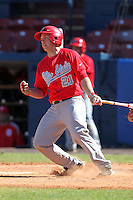 Ohio State Buckeyes Brad Hallberg #21 during a game vs. the Illinois State Redbirds at Chain of Lakes Park in Winter Haven, Florida;  March 11, 2011.  Illinois defeated Ohio State 12-1.  Photo By Mike Janes/Four Seam Images
