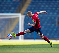 24th April 2021; Ewood Park, Blackburn, Lancashire, England; English Football League Championship Football, Blackburn Rovers versus Huddersfield Town;  Lewis O'Brien of Huddersfield Town stretches for the ball
