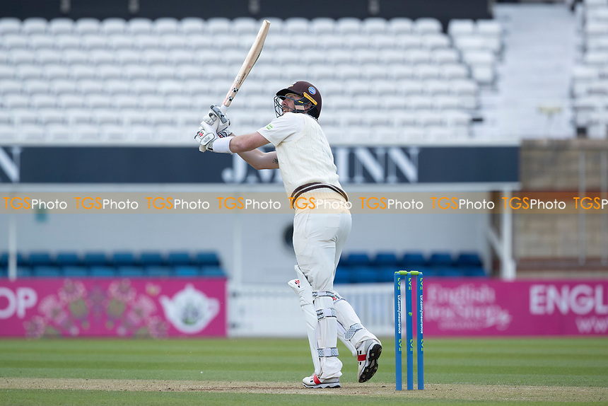 Rikki Clarke, Surrey CCC clips high and is dropped at mid wicket during Surrey CCC vs Hampshire CCC, LV Insurance County Championship Group 2 Cricket at the Kia Oval on 1st May 2021