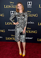 "LOS ANGELES, USA. July 10, 2019: Emily Deschanel at the world premiere of Disney's ""The Lion King"" at the Dolby Theatre.<br /> Picture: Paul Smith/Featureflash"