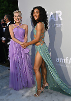 ANTIBES, FRANCE. July 16, 2021: Sharon Stone & Mj Rodriguez at the amfAR Cannes Gala 2021, as part of the 74th Festival de Cannes, at Villa Eilenroc, Antibes.<br /> Picture: Paul Smith / Featureflash
