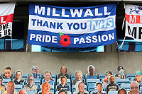 Millwall FC 'Thank You NHS' flag on display during Millwall vs Middlesbrough, Sky Bet EFL Championship Football at The Den on 8th July 2020