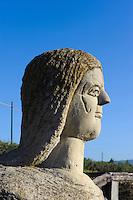 Marienstatue bei Las Plassas, Provinz Medio-Campidano, Inner - Sardinien, Italien