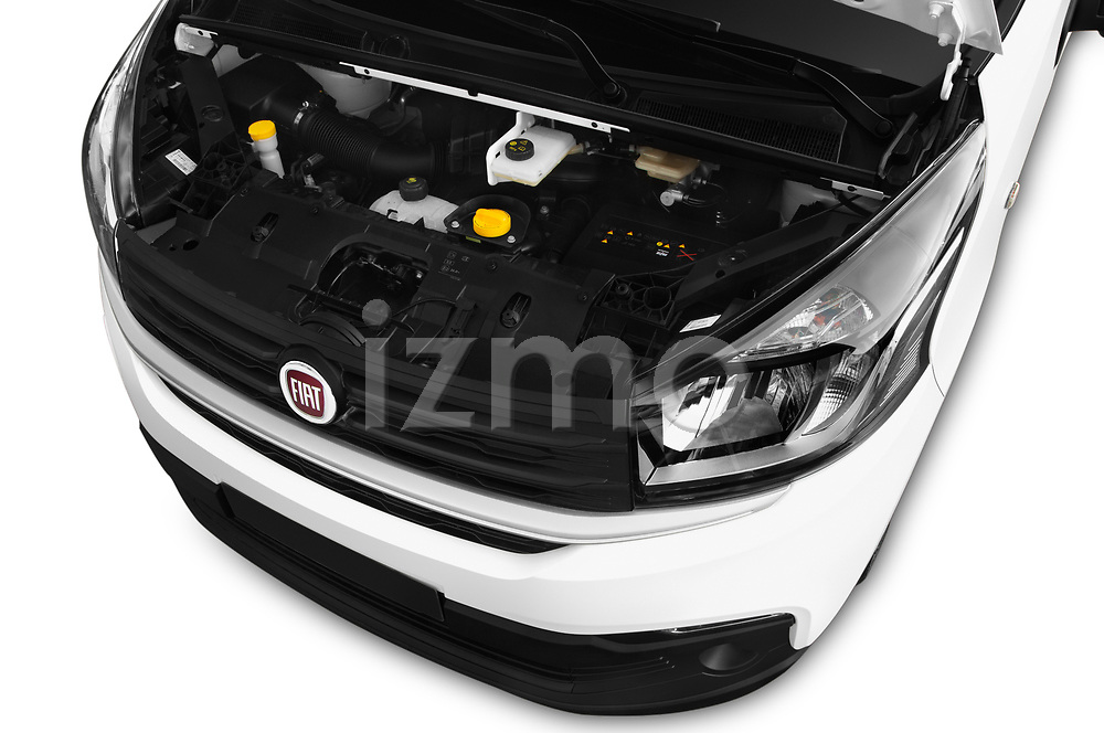 Car Stock 2017 Fiat Talento Pack 4 Door Cargo Van Engine  high angle detail view