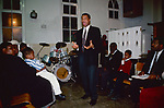 Church of God of Prophecy,  fiery preaching after the baptism. North London 1990s.