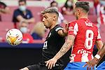 Atletico de Madrid's Saul Niguez (r) and Elche CF's Lucas Boye during La Liga match. August 22,2021. (ALTERPHOTOS/Acero)