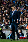 Coach Luis Ernesto Valverde Tejedor of FC Barcelona reacts during the La Liga 2017-18 match between FC Barcelona and Malaga CF at Camp Nou on 21 October 2017 in Barcelona, Spain. Photo by Vicens Gimenez / Power Sport Images