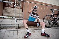 post-race hydration<br /> <br /> Stage 6: Mora de Rubielos to Ares del Maestrat (199km)<br /> La Vuelta 2019<br /> <br /> ©kramon