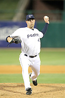 Aaron Poreda #44 of the Tucson Padres plays in a Pacific Coast League game against the Fresno Grizzlies at Kino Stadium on April 20, 2011  in Tucson, Arizona. .Photo by:  Bill Mitchell/Four Seam Images.