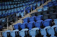 SAN JOSE, CA - NOVEMBER 4: Earthquakes Stadium seats before a game between Los Angeles FC and San Jose Earthquakes at Earthquakes Stadium on November 4, 2020 in San Jose, California.