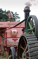 Threshing wheat, Beamish, County Durham.