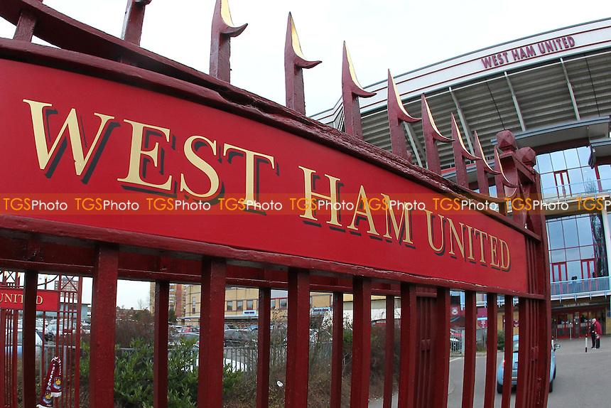 The John Lyall gates outside the ground ahead of West Ham United Ladies vs Tottenham Hotspur Ladies, FA Women's Premier League Football at the Boleyn Ground, Upton Park