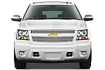 Straight front view of a 2012 Chevrolet Suburban LTZ