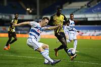 Todd Kane of Queens Park Rangers crosses the ball during Queens Park Rangers vs Watford, Sky Bet EFL Championship Football at The Kiyan Prince Foundation Stadium on 21st November 2020
