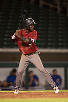AZL Diamondbacks shortstop Geraldo Perdomo (12) at bat during an Arizona League game against the AZL Cubs 1 at Sloan Park on June 18, 2018 in Mesa, Arizona. AZL Diamondbacks defeated AZL Cubs 1 7-0. (Zachary Lucy/Four Seam Images)