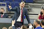 FC Barcelona's coach Sarunas Jasikevicius during Liga Endesa ACB 1st Final match. June 13,2021. (ALTERPHOTOS/Acero)