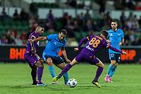 24th March 2021; HBF Park, Perth, Western Australia, Australia; A League Football, Perth Glory versus Sydney FC; Perth's Neil Kilkenny tackles Sydney's Bobo