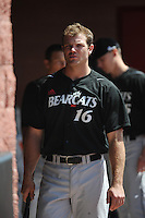 University of Cincinnati Bearcats outfielder Justin Glass (16) before a game against the Rutgers University Scarlet Knights at Bainton Field on April 19, 2014 in Piscataway, New Jersey. Rutgers defeated Cincinnati 4-1.  (Tomasso DeRosa/ Four Seam Images)