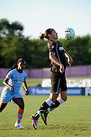 Christine Sinclair (12) of the Western New York Flash. The Western New York Flash defeated Sky Blue FC 4-1 during a Women's Professional Soccer (WPS) match at Yurcak Field in Piscataway, NJ, on July 30, 2011.