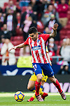 Angel Correa (L) of Atletico de Madrid battles for the ball with Jairo Samperio Bustara of UD Las Palmas during the La Liga 2017-18 match between Atletico de Madrid and UD Las Palmas at Wanda Metropolitano on January 28 2018 in Madrid, Spain. Photo by Diego Souto / Power Sport Images