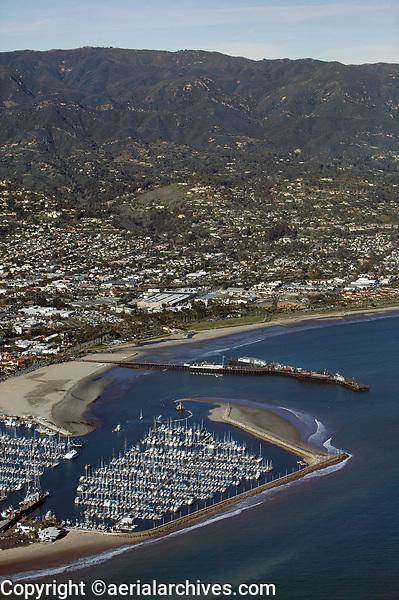 aerial photograph of the Santa Barbara Harbor, California