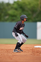 Jupiter Hammerheads Victor Victor Mesa (32) leads off second base during a Florida State League game against the Florida Fire Frogs on April 8, 2019 at Osceola County Stadium in Kissimmee, Florida.  Florida defeated Jupiter 7-6 in ten innings.  (Mike Janes/Four Seam Images)