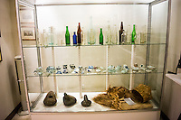 Historic remnants from Onomea Bay and Valley's past found next to the gift shop at Hawaii Tropical Botanical Garden in Papa'ikou near Hilo, Big Island of Hawai'i.