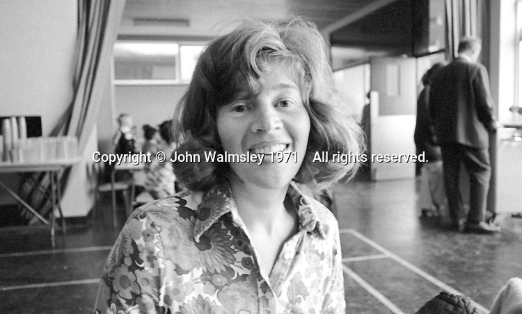 Gerry Mabin at Julian's Primary School, Streatham, London.  1971.  Gerry later moved to Toronto, Canada, where she founded the Mabin School in 1980.