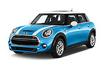 2017 MINI Cooper S 5 Door Hatchback Angular Front stock photos of front three quarter view