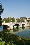 Italien, Piemont, Hauptstadt Turin: Ponte Umberto, Fluss Po, Monte dei Cappuccini   Italy, Piedmont, capital Torino: Ponte Umberto, river Po, Monte dei Cappuccini