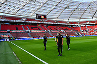26th May 2020, Leverkusen, North Rhine-Westphalia, Germany; Bundesliga football, Bayer Leverkusen versus VfL Wolfsburg; Referee Daniel Schlager