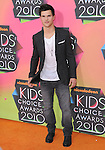 Taylor Lautner at Nickelodeon's 23rd Annual Kids' Choice Awards held at Pauley Pavilion in Westwood, California on March 27,2010                                                                                      Copyright 2010 © DVS / RockinExposures