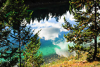 The colorful waters of the lakes at Five Lake Jasper National Park Alberta Canada
