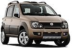 Low aggressive passenger side front three quarter view of a 2009 Fiat Panda 5 Door 4x4.