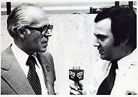 Lawrence Hanigan, président de la Commission de transport de la Communauté urbaine de Montréal (CTCUM). le 4 avril 1978.<br /> <br /> Lawrence Hanigan, est mort en novembre 2009. Il avait 84 ans.  <br /> <br /> PHOTO : JJ Raudsepp  - Agence Quebec presse