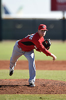 Cincinnati Reds pitcher Mark Armstrong (25) during an Instructional League game against the Kansas City Royals on October 16, 2014 at Goodyear Training Complex in Goodyear, Arizona.  (Mike Janes/Four Seam Images)